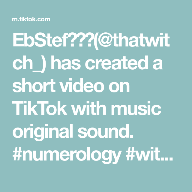 Ebstef Thatwitch Has Created A Short Video On Tiktok With Music Original Sound Numerology In 2020 Actions Speak Louder Than Words Parenting Fail Relatable