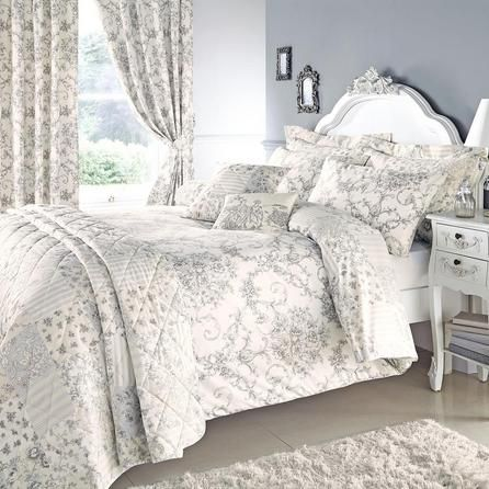 grey frances collection duvet cover set dunelm