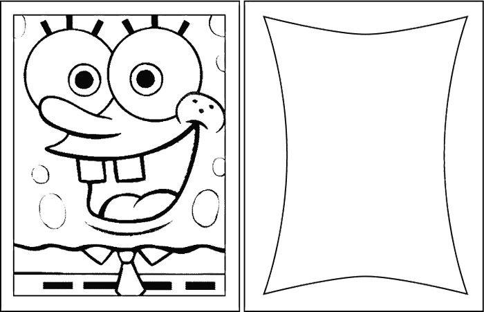 Spongebob birthday card coloring page