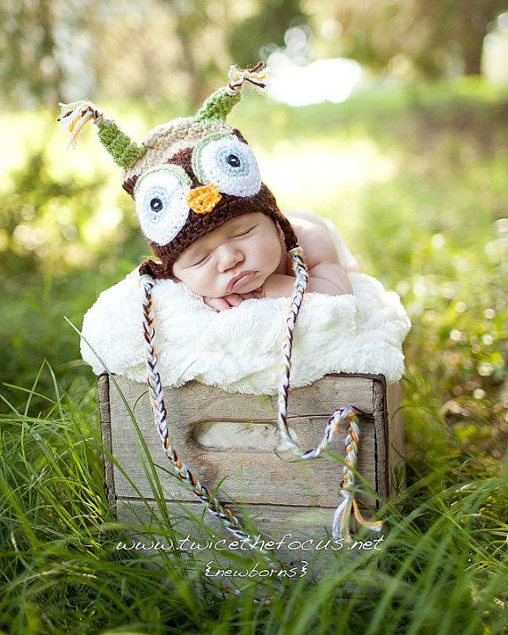 Brown Owl Hat Photography Photo Prop by creativephotoprops on Etsy, $18.00