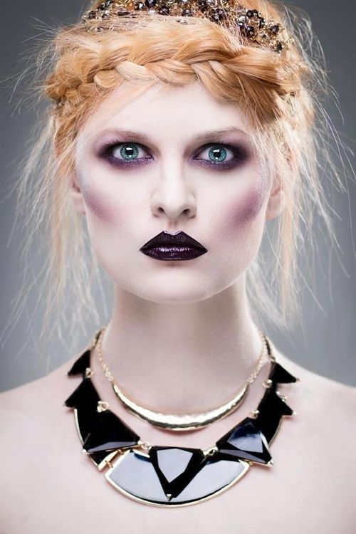 Black and white ghost makeup style