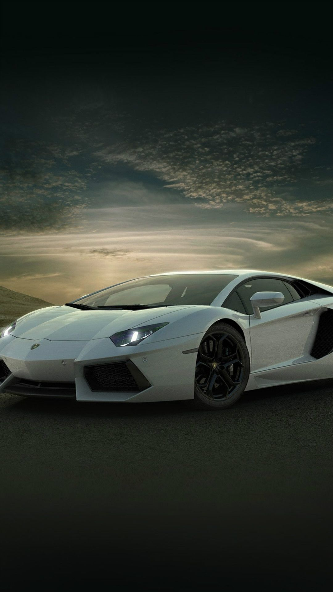 Attractive Lamborghini Car Exotic White Art #iPhone #7 #wallpaper Design Ideas