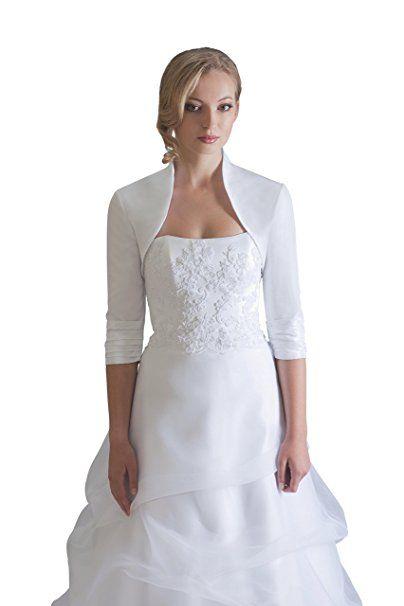 Hochzeits Bolero Brautkleider Jacke Braut aus Taft - BE208 (XS ...