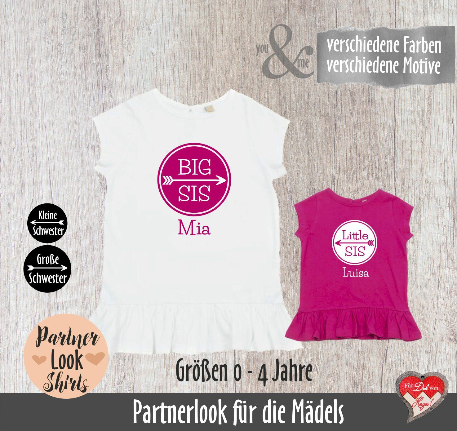 Partnerlookshirts Sisters Big Sister Little Sister Big