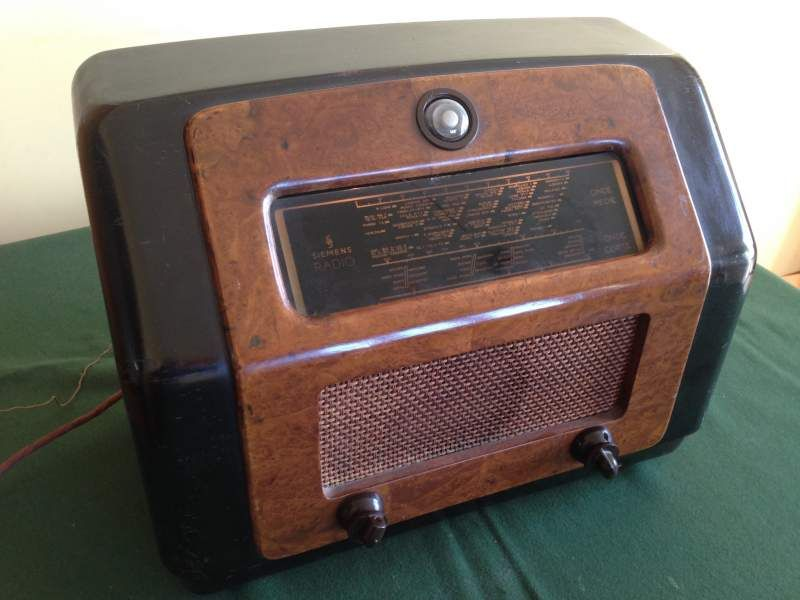 Radio VINTAGE anni 40 SIEMENS OLAP S522 a valvole in radica