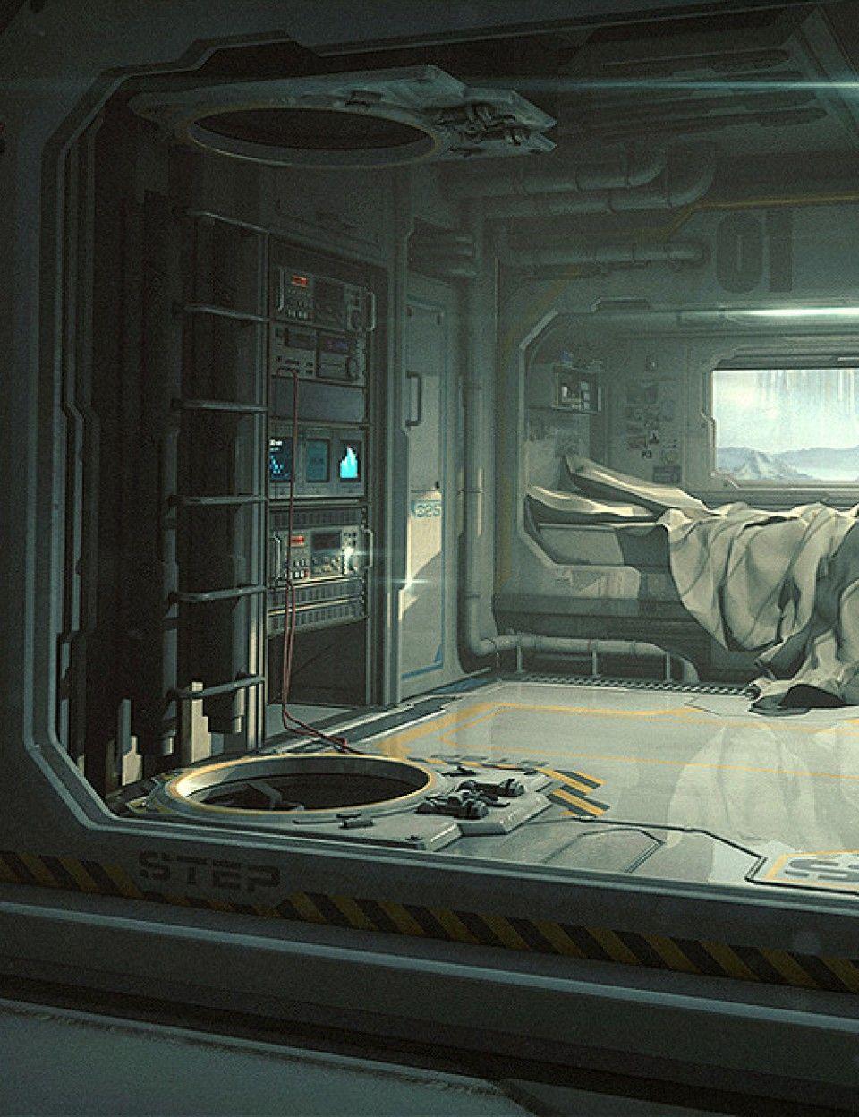 Sci-Fi Bedroom | Sci fi city, Sci fi environment, Sci fi art