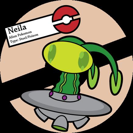 Neila - Alien Pokemon - Steel/Psychic