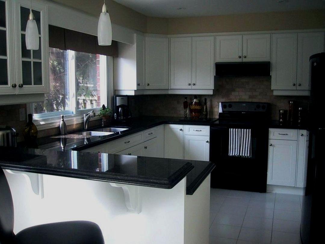 76 Elegant Kitchen Design Ideas For Your In 2020 Kitchen Cabinets With Black Appliances Black Appliances Kitchen Kitchen Renovation