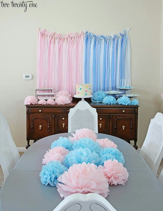 Gender Reveal Dinner Decor Gender Reveal Dinner Decor Gender