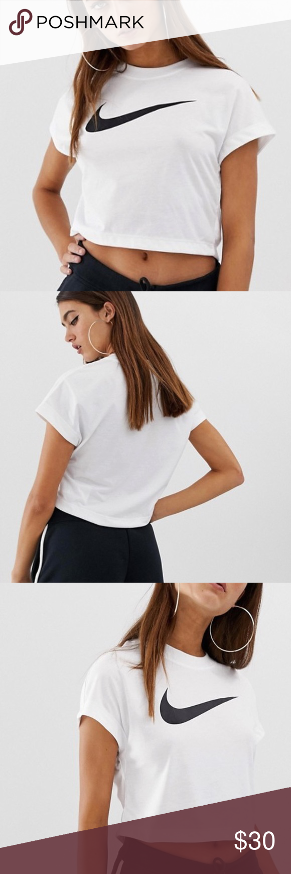 Nike Women S Swoosh Crop Top Crop Tops Fashion Pullover Styling [ 1740 x 580 Pixel ]