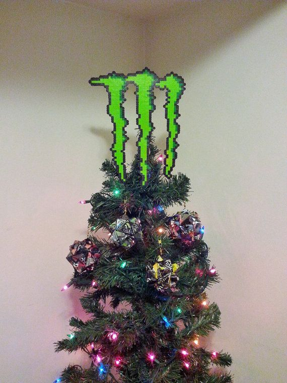 Monster Energy Drink Origami and Perler Bead by LighterCases, $100.00