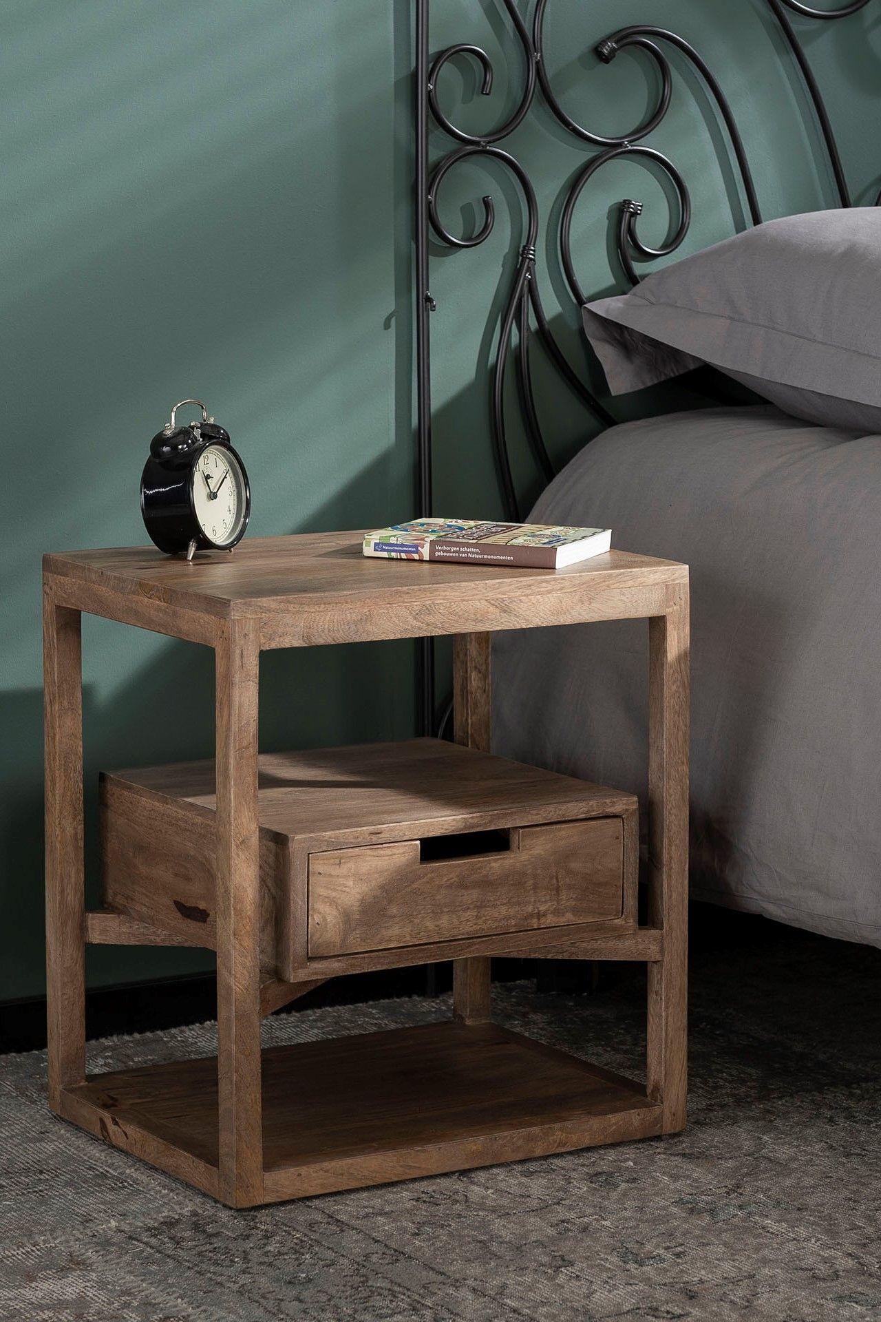 table de chevet bois de manguier 1
