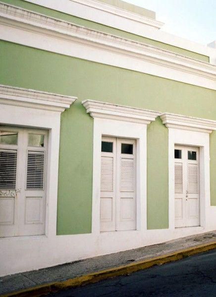 Color Palette Seafoam To Pistachio Green Exterior Paints Green House Exterior Exterior House Colors