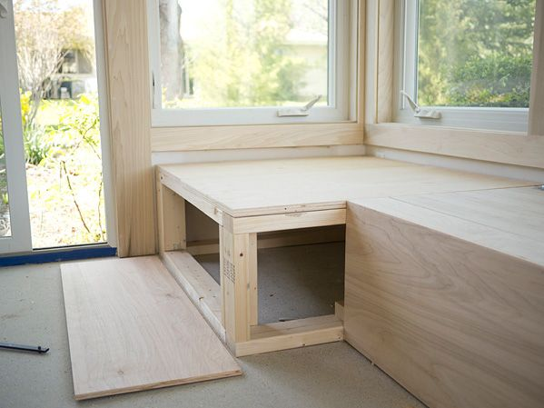 DIY Challenge: Build a Custom Window Bench Seating Area - How To Build Modern Bench Seating - Erin Loechner Dining Room