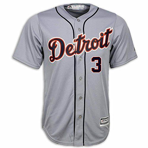 Ian Kinsler Detroit Tigers Road Replica Jersey by Majestic – Detroit Sports Outlet