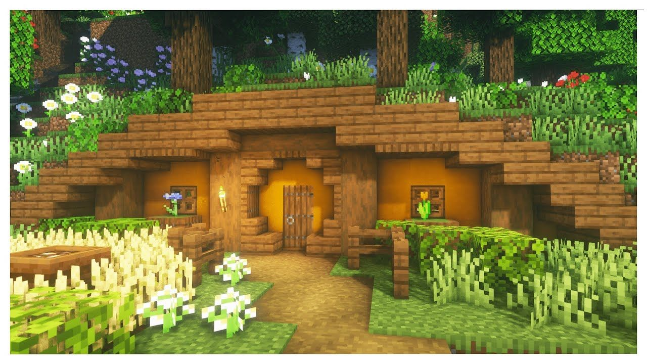 Minecraft How To Build A Simple Hobbit Hole