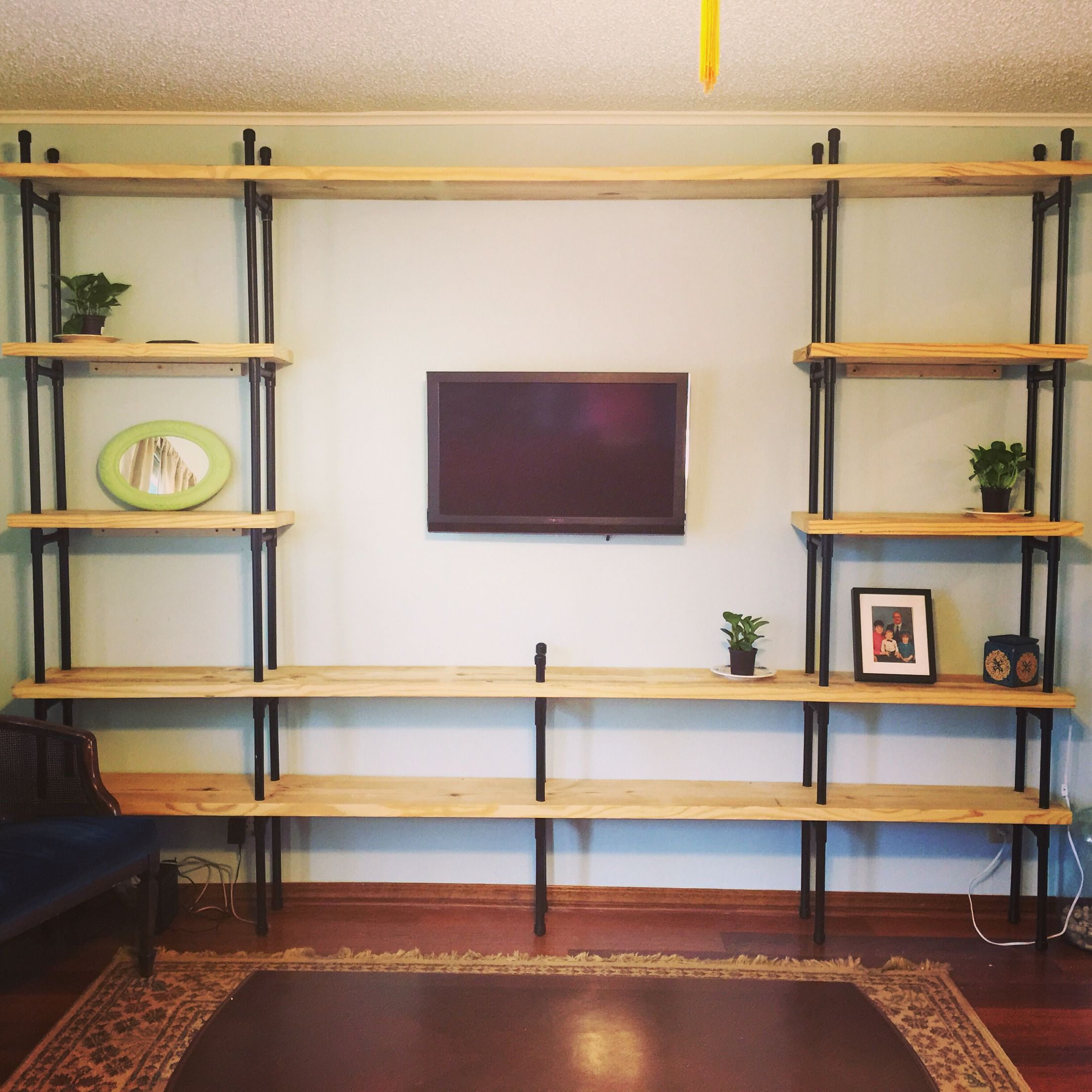 Completed Pvc Pipe Shelves Creations