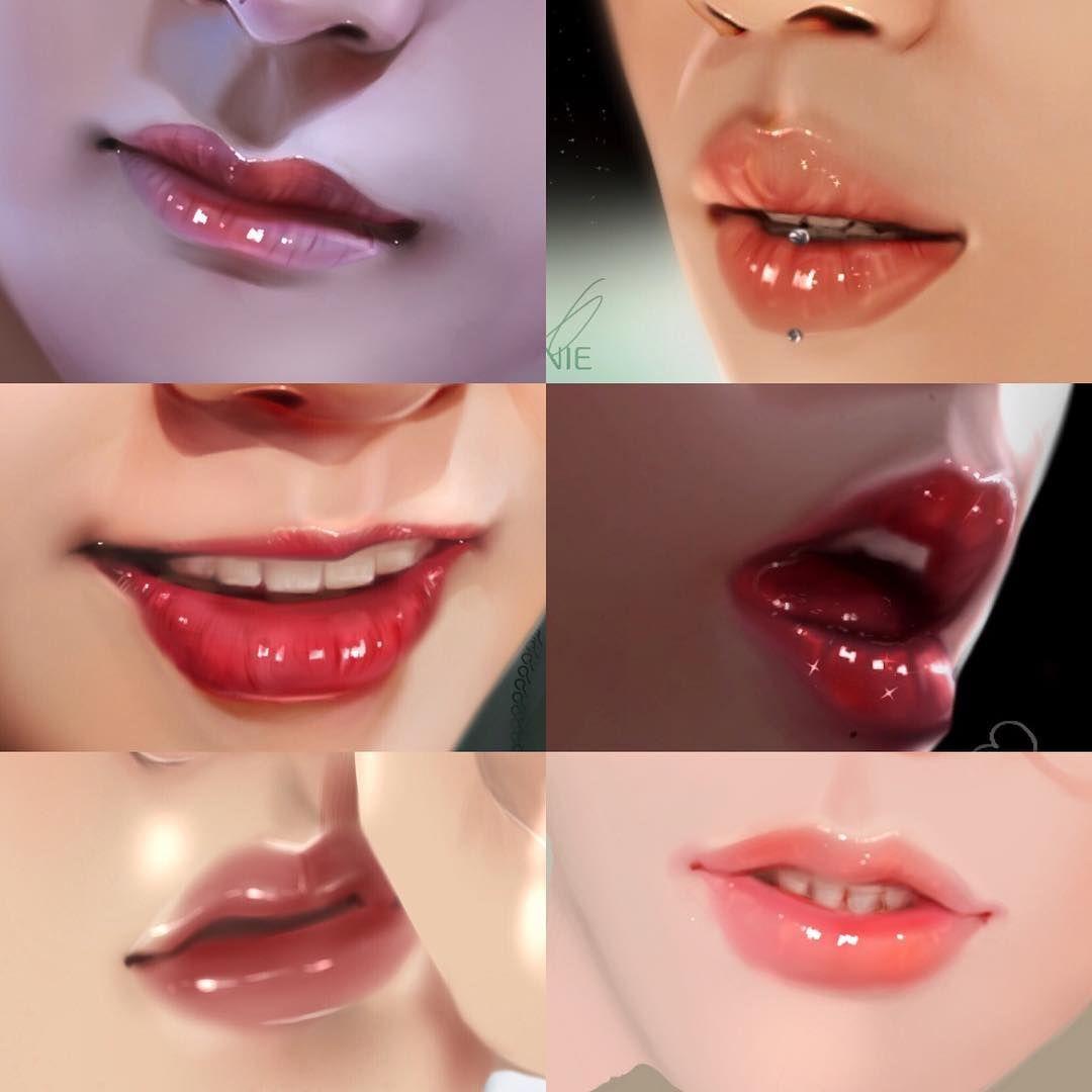 Yes I Love Glossy Lips Btsfanart Btsedits Lips Lipstutorial