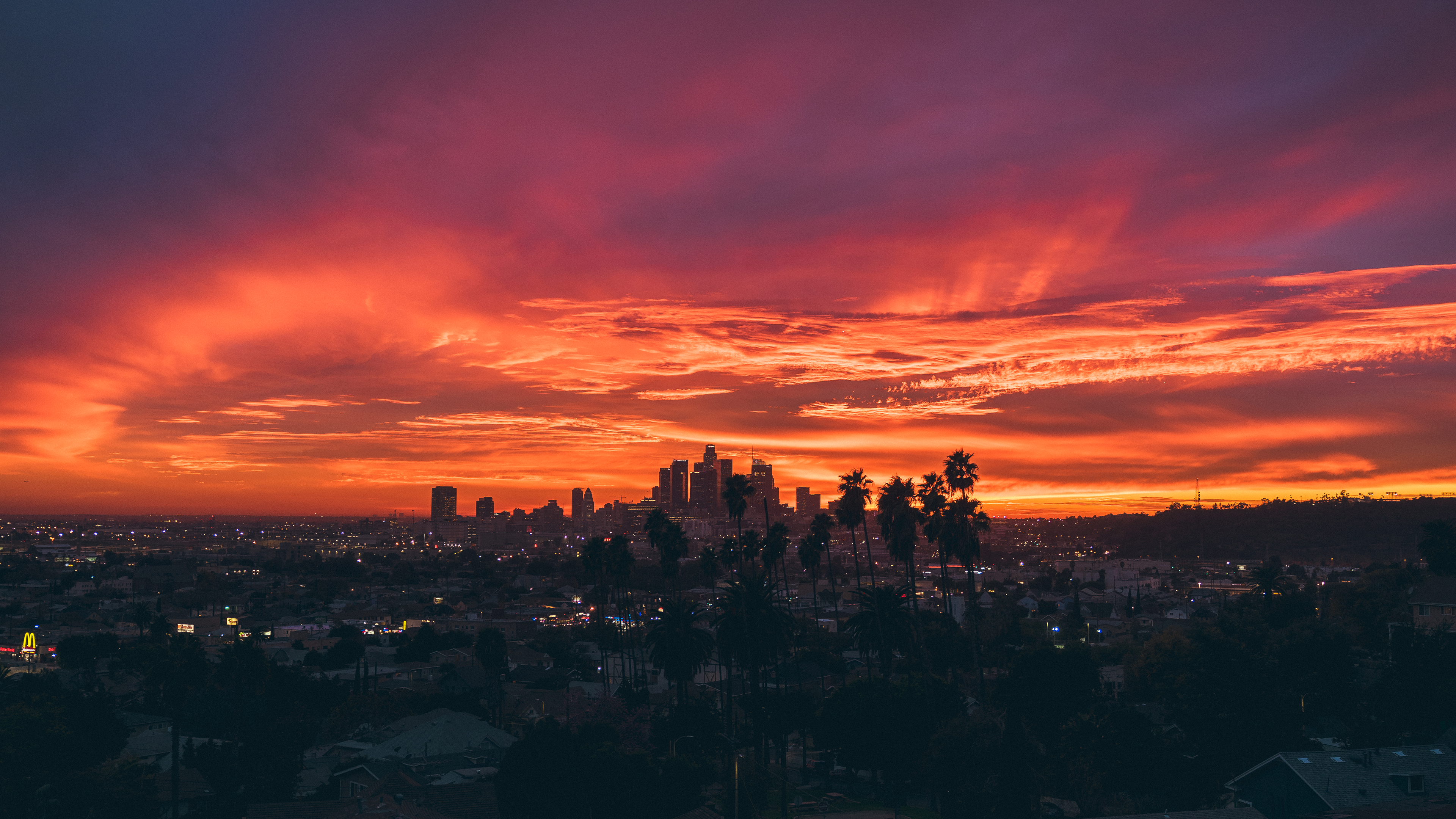 Sunset in Los Angeles [3840x2160][OC] Los angeles