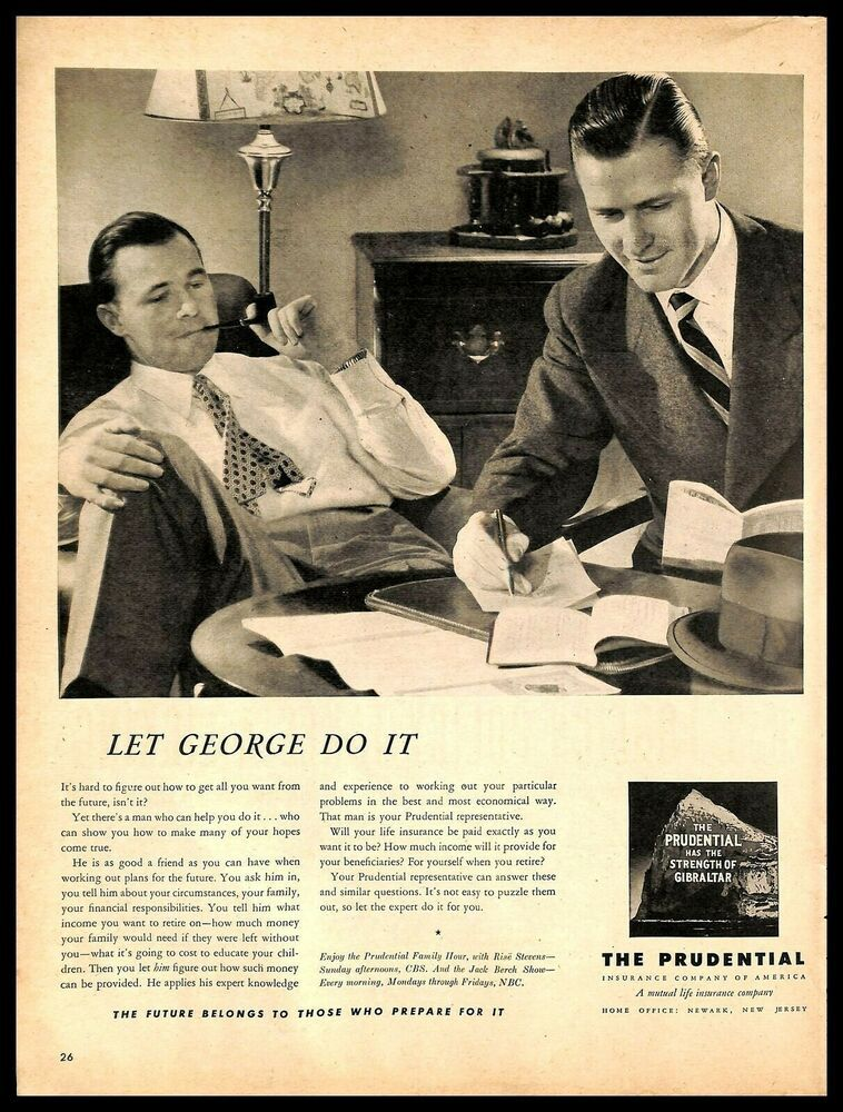 1948 The Prudential Life Insurance Company Vintage Print Ad