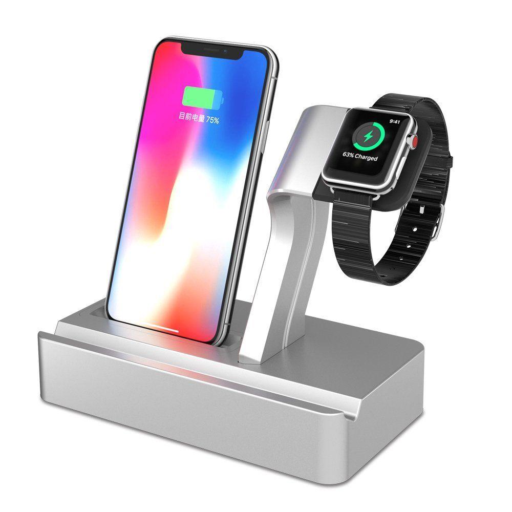 3e3eaf1e72ac Station d Accueil Charge avec Apple Watch Stand X-dodd Station de charge  pour iPhone 6 7 8 X Plus Support téléphone Support Dock pour Smartphones