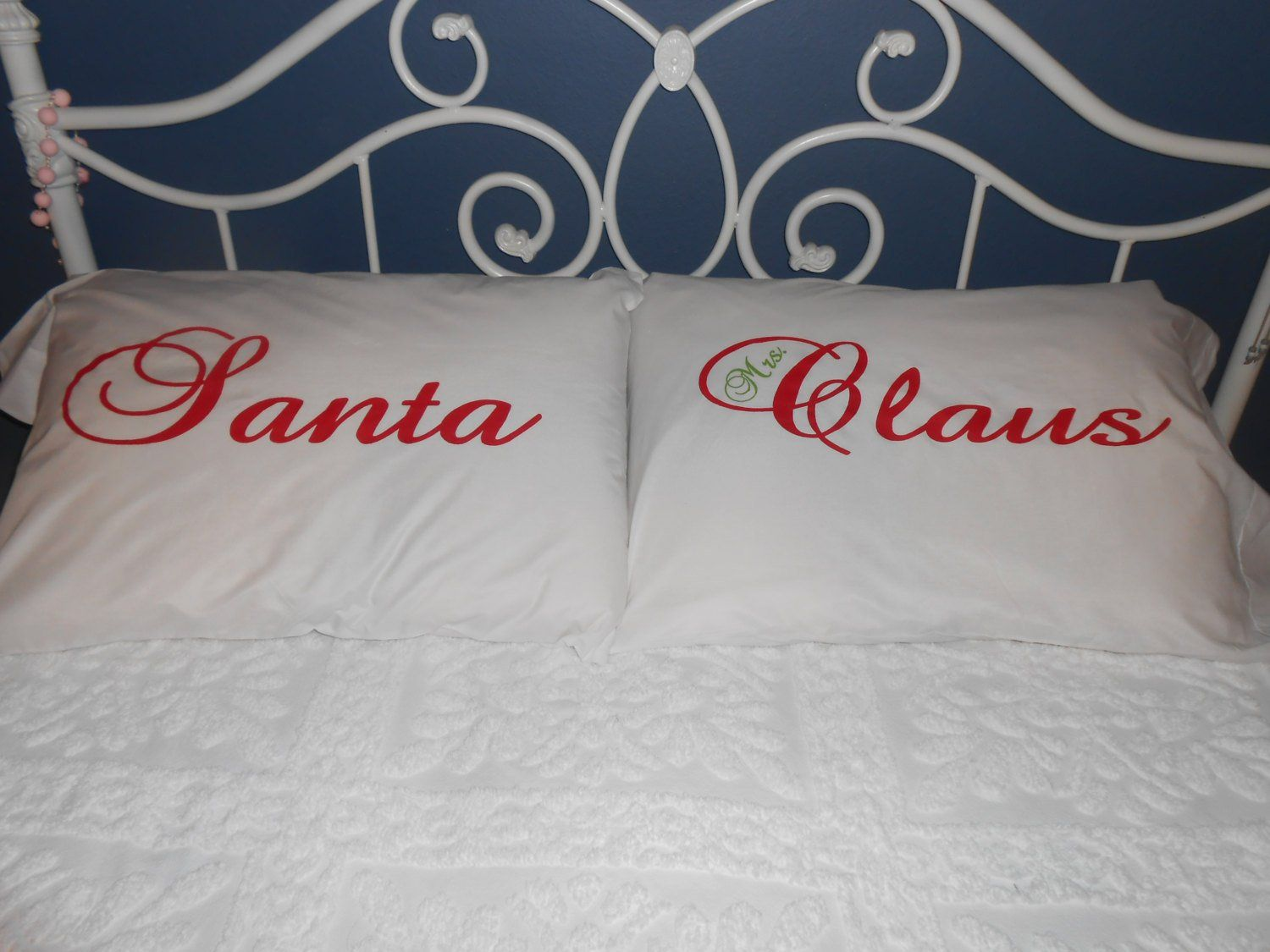 Santa and Mrs. Claus Hand Painted Pillowcases - Couples Gift Ideas ...