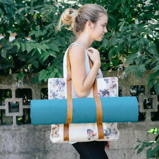 DIY your own yoga mat bag with a few simple materials. You can also ...