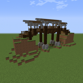 Medium Wooden Bridge Blueprints for MineCraft Houses Castles Towers and more