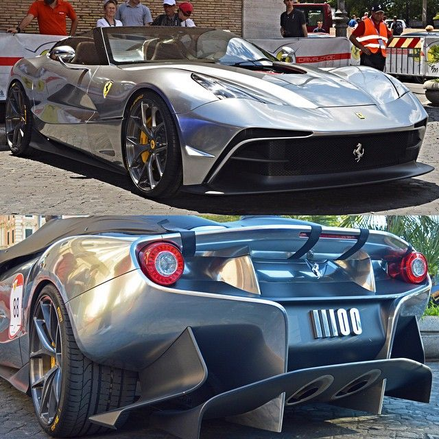Chrome grey Ferrari F12 TRS || see more photos on our Facebook page and look out for the full feature on blog.dupontregistry.com || photo by V12supercarsfotogrpahy || #dupontregistry #ferrari