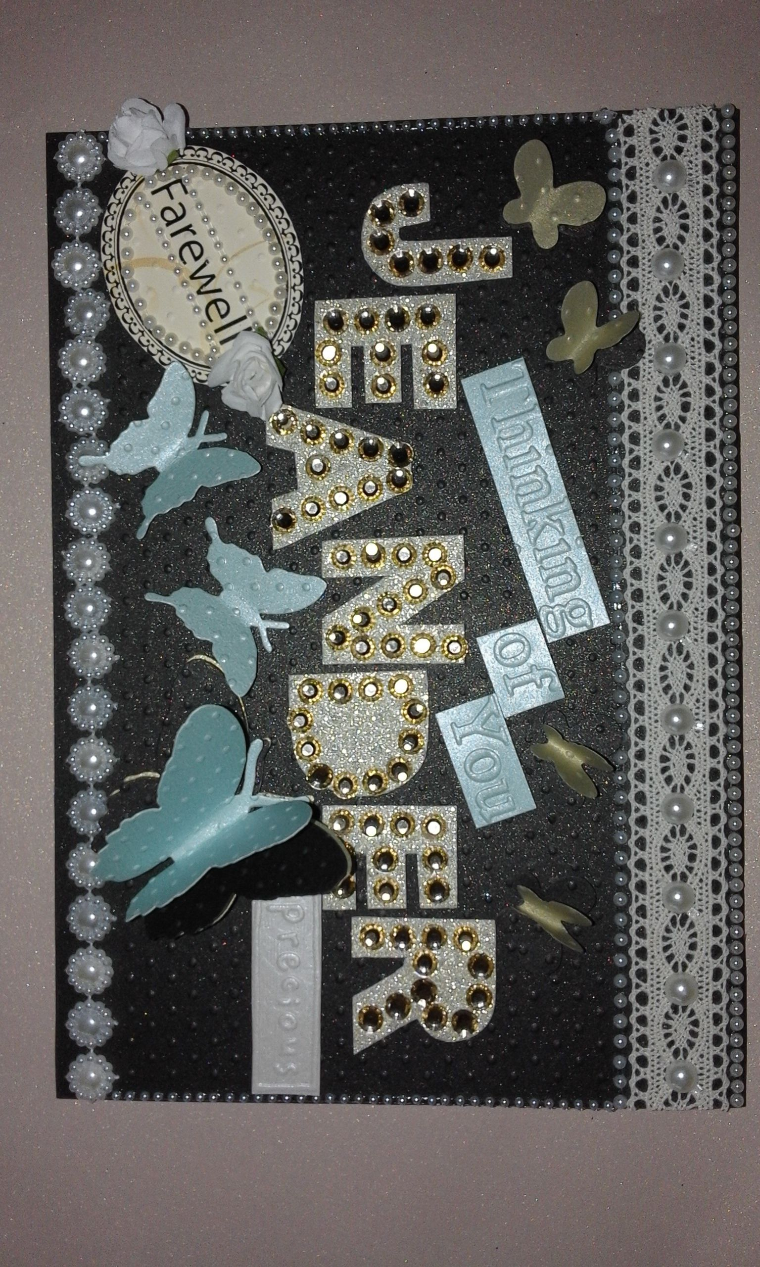 pinhandmade personalized greeting on farewell card