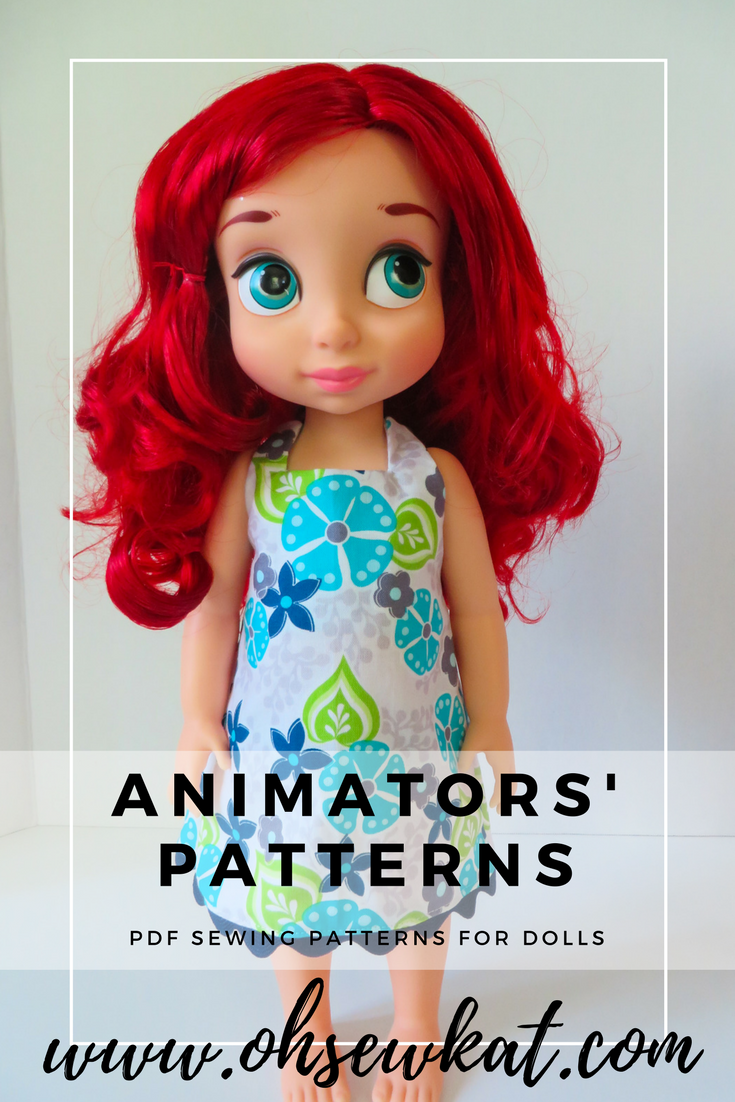 Sewing patterns to make doll clothes for Animators dolls by Disney ...