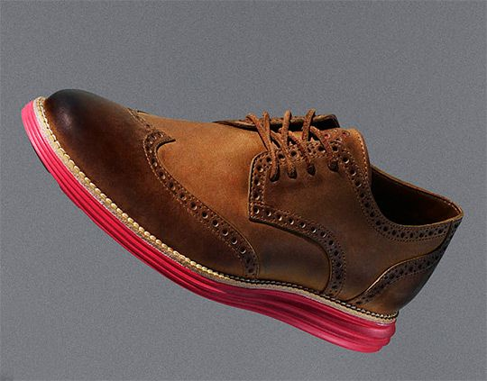Nike x Cole Haan LunarGrand Leather Wingtip- red and white soles in boots  and brogues are hot this season.