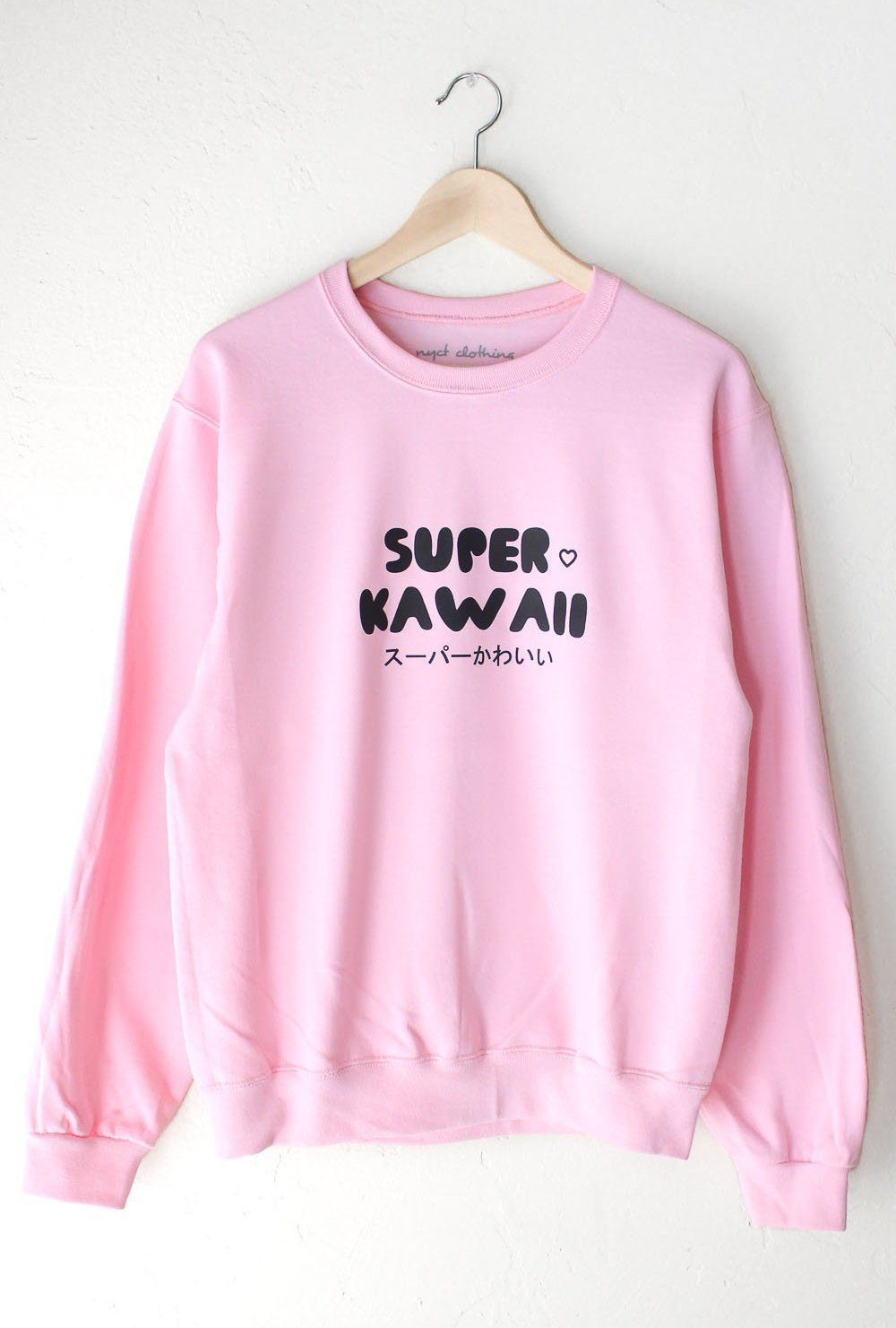 40558ef8 Description - Size Guide Details: Soft oversized sweatshirt in pink with  print 'Super