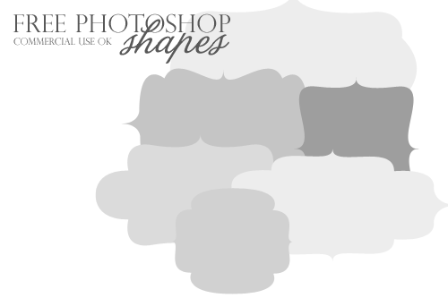 Free Photoshop shapes...so nice!