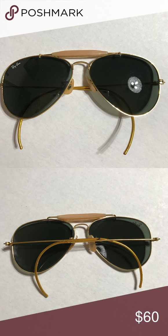 e674b7e35c6ef vintage classic ray-ban aviators vintage ray bans no scratches Ray-Ban  Accessories Sunglasses