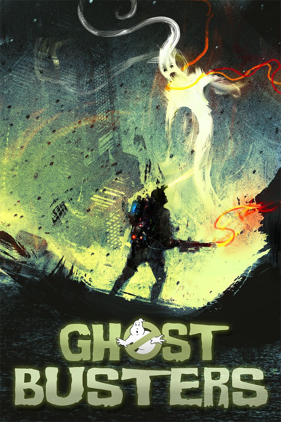 Love This Ghosbusters Fan Art Poster By Drew Rosier Ghostbusters
