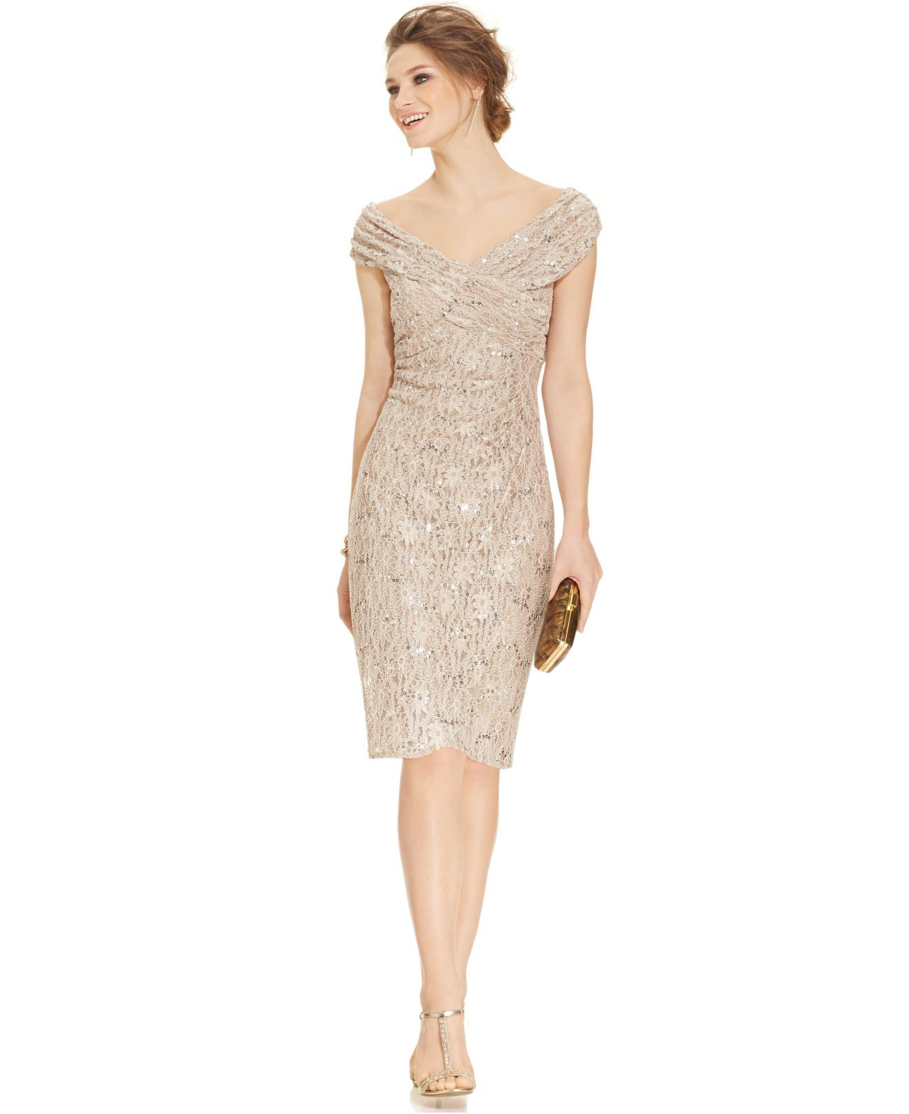 http://www.lyst.com/clothing/alex-evenings-off-the-shoulder-sequin ...