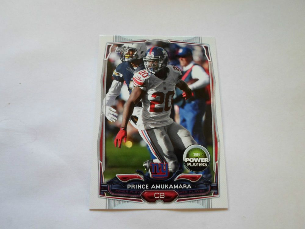 2014 TOPPS POWER PLAYERS CODE CARD PRINCE AMUKAMARA # PP-27 #NewYorkGiants