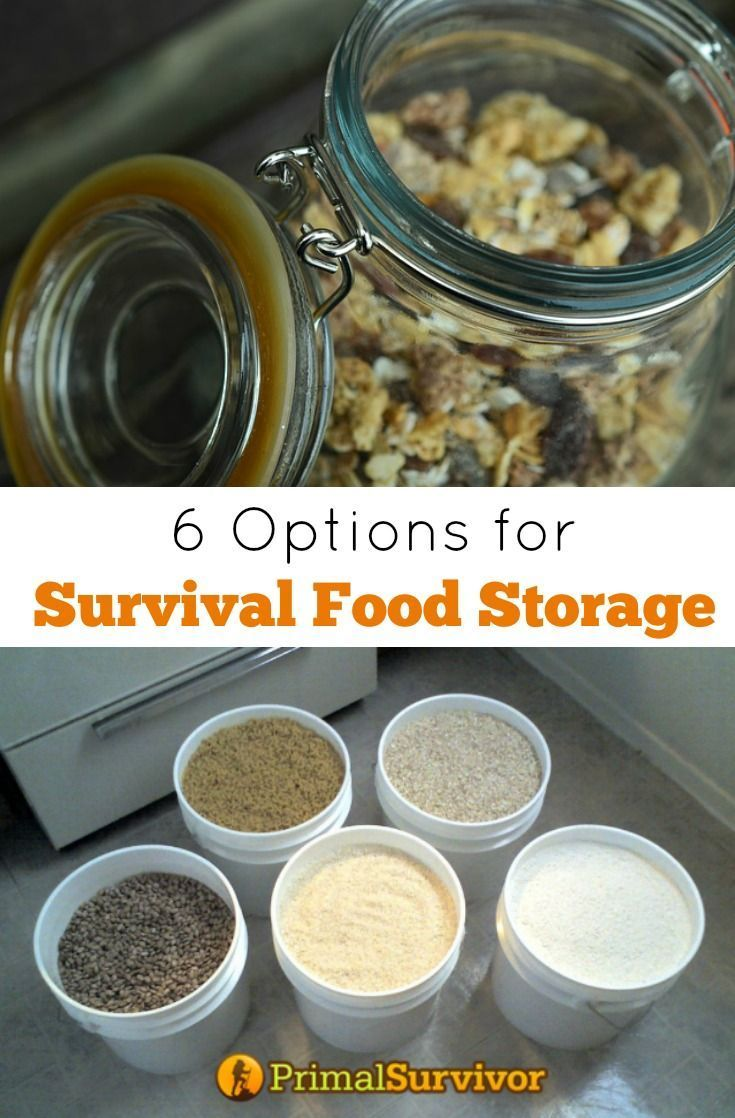 6 Options for Survival Food Storage Containers Pinterest Long