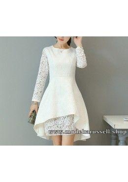 Elegantes Vokuhila Kleid Abendkleid Tulla in Weiß ...