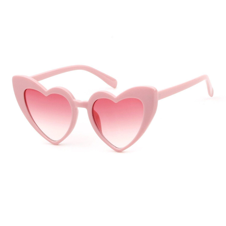0d4a6d1c5e0 Clout Goggle Heart Sunglasses Vintage Cat Eye Mod Style Retro Kurt Cobain  Glasses - Pink - CK188Y065YA - Women s Sunglasses