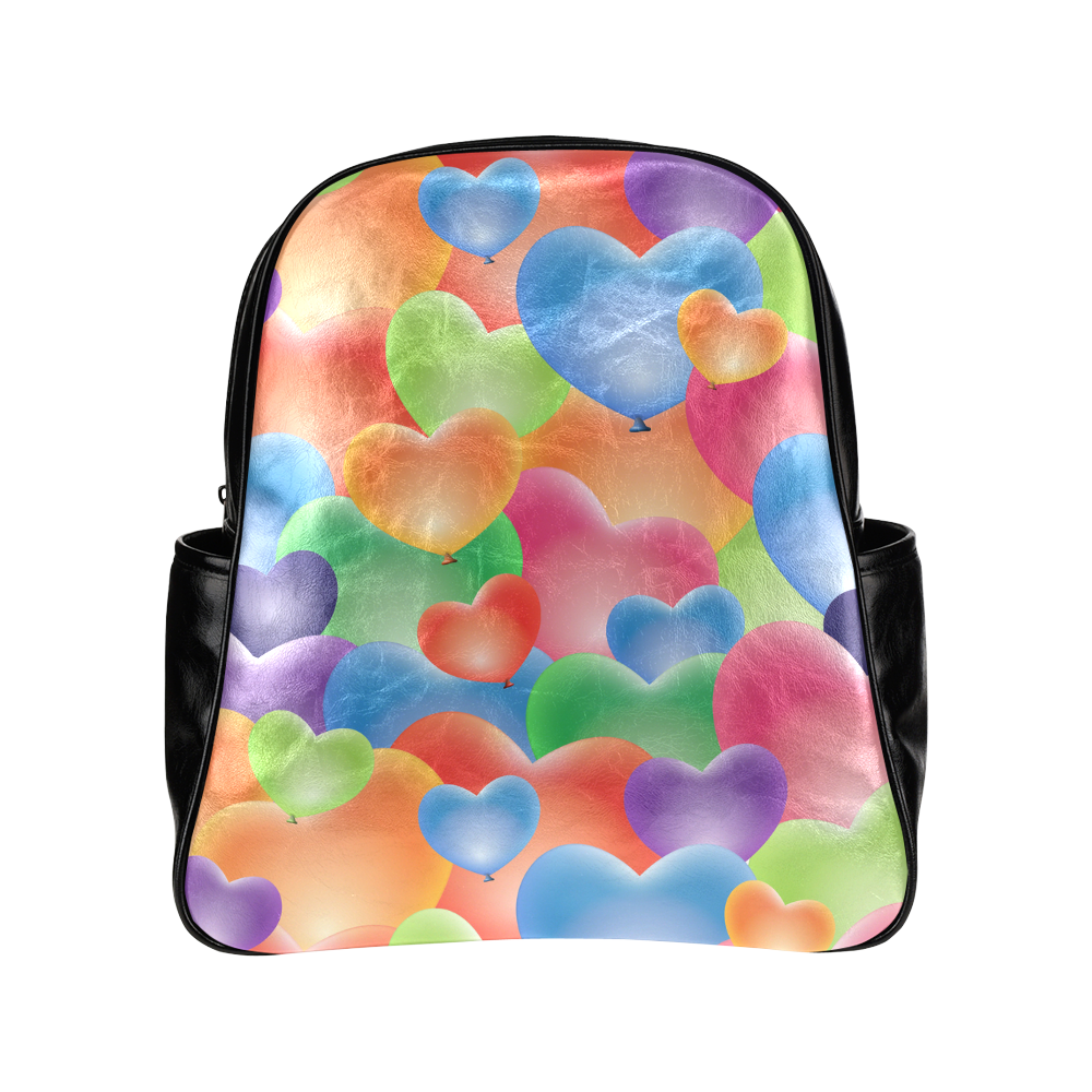 Funny_Hearts_20161206_by_Feelgood Multi-Pockets Backpack (Model 1636)