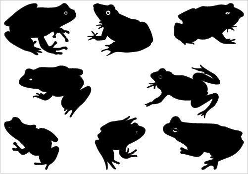 frog silhouette vector silhouettevector net silhouette rh pinterest com Toad Clip Art Border Brown Toad Clip Art