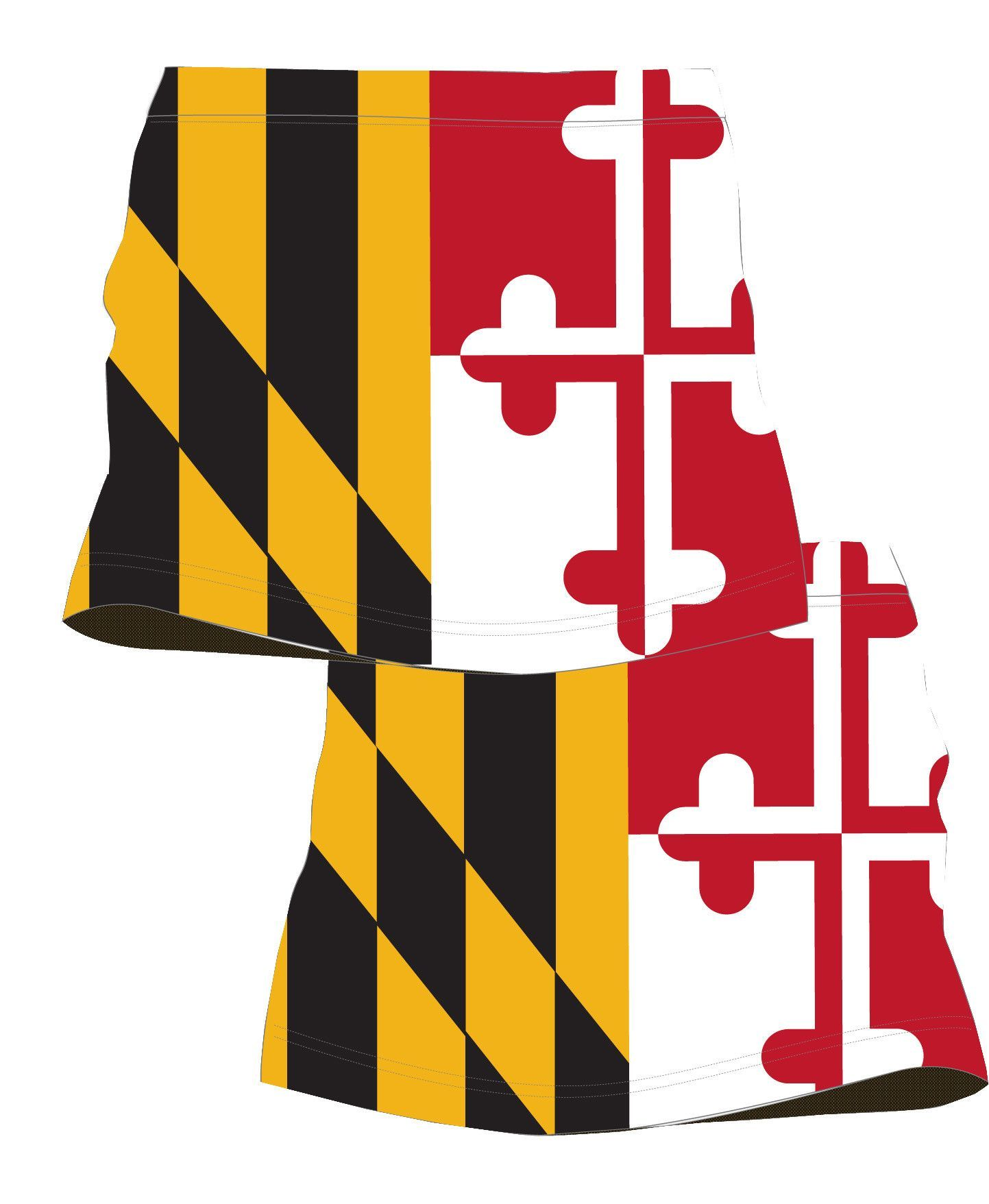Womens Maryland Flag Running Skirt Running Skirts Maryland Flag Running