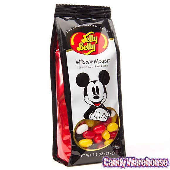 Jelly Belly Mickey Mouse Jelly Beans 7 5 Ounce Bag Jelly Beans Gourmet Jelly Beans Jelly Belly