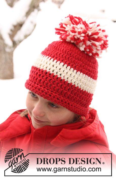 "DROPS Extra 0-749 - Gorro DROPS en ganchillo / crochet en ""Alaska ..."