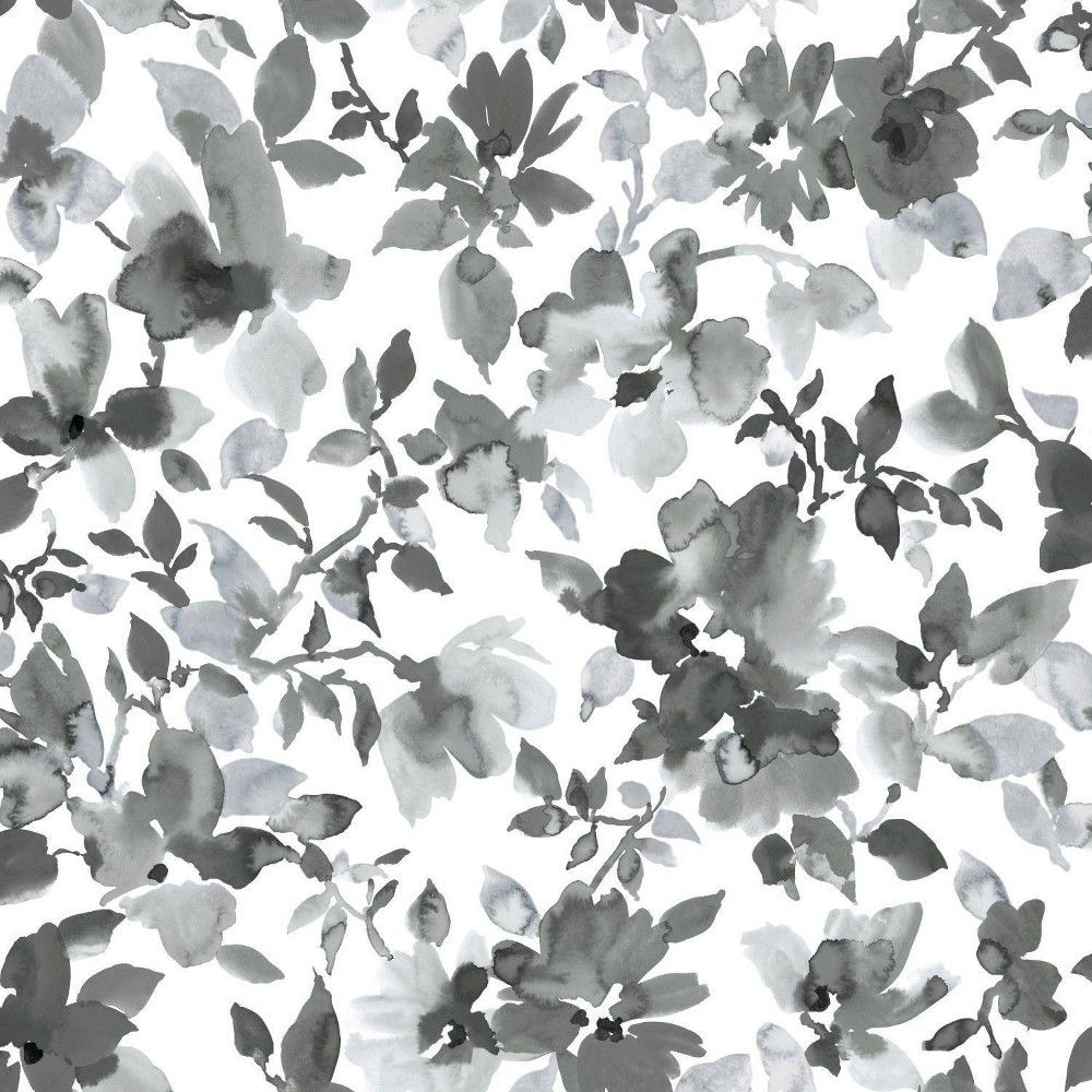 Roommates 28 2 Watercolor Floral P S Wallpaper Black Peel And