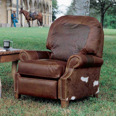 Tooled Leather Recliner King Ranch Recliner Leather