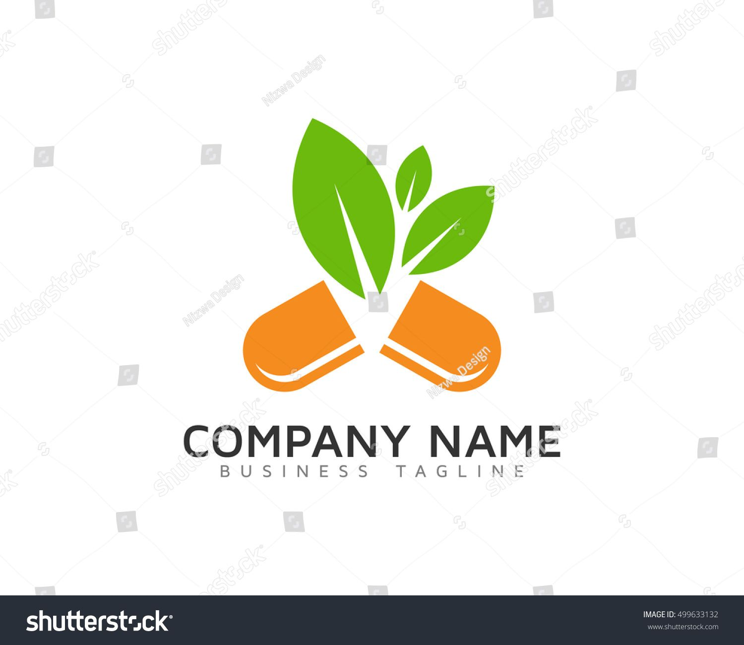 Herbal Supplement - Natural Medicine Logo Template   Unique Logo And
