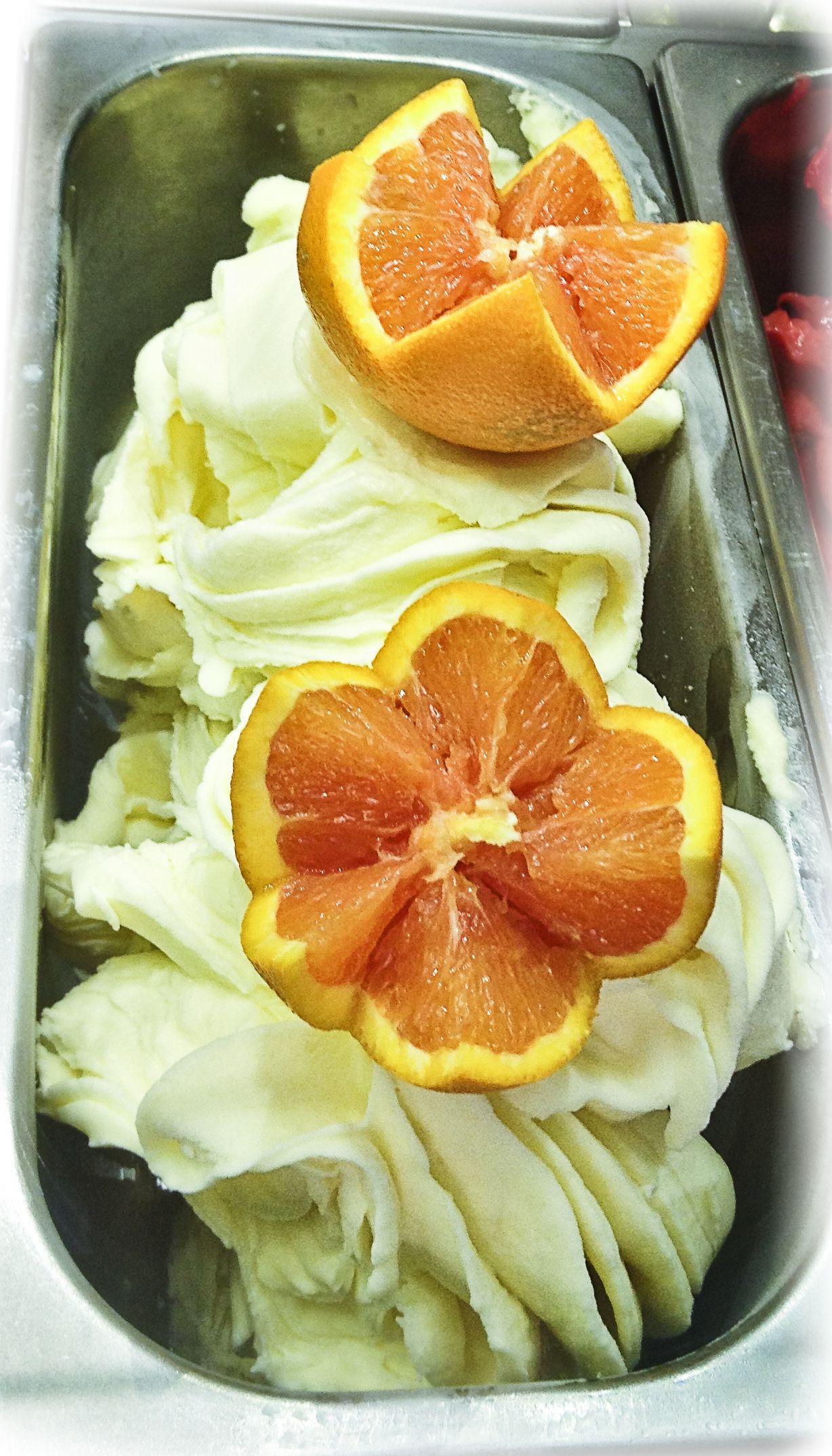 Gelato del giorno: Sorbetto di arance..